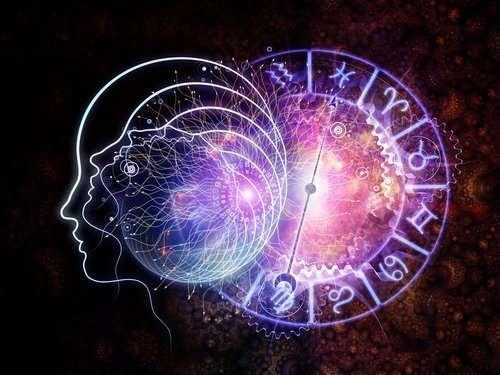 astrology wheel violet